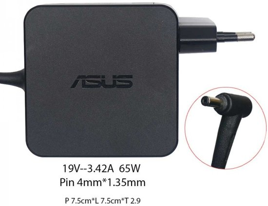 ASUS adapter 3,42a 65W 19v 4 mm pin incl. ASUS headphone