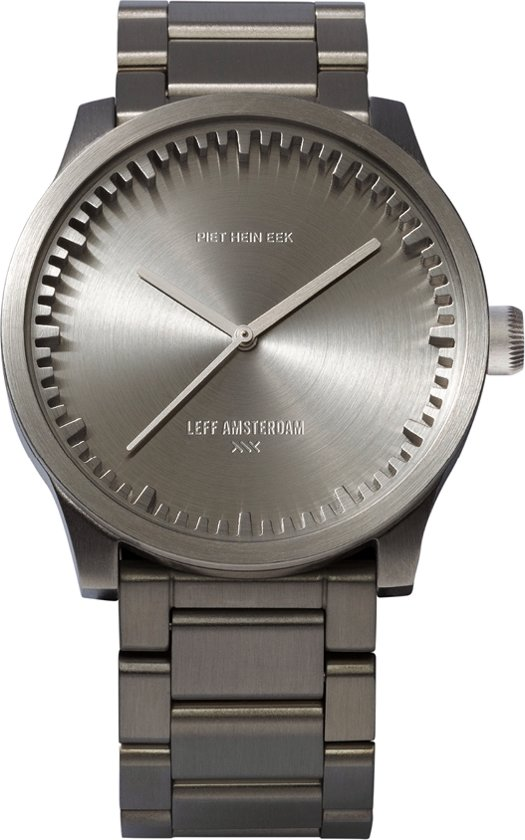 LEFF amsterdam tube watch S38 LT71101 - Steel - Horloge - Staal - Grijs - Ø 38mm
