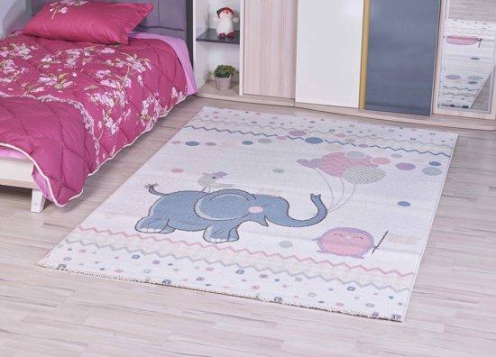 Comfortabel Vloerkleed Babykamer : Bol luna kids vloerkleed kinderkamer olifant cm