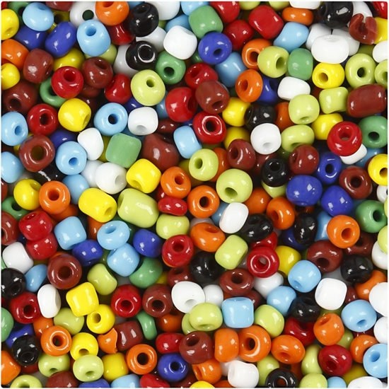 Rocailles mix, afm 6/0 , kleuren assorti, multi color, 1000 gr