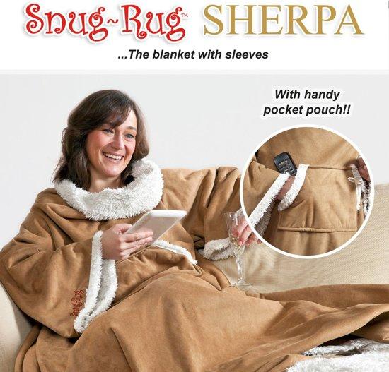 Snug Rug Sherpa - Plaid - Extra Dik - Bruin - Faux Suede - Premium Throw Deken - TV Deken - Knuffeldeken - Woondeken - Fleece Deken