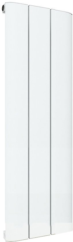 Design radiator verticaal aluminium mat wit 60x28cm 316 watt -  Eastbrook Peretti
