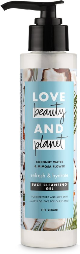 Love Beauty and Planet Coconut Water and Mimosa Flower Refresh and Hydrate Face Cleansing Gel 125ml