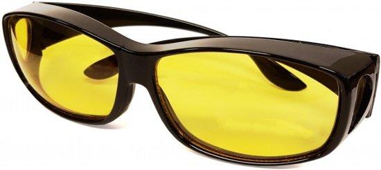 Overzet Nachtbril  - Autobril / Mistbril -  Nachtzicht Auto Bril