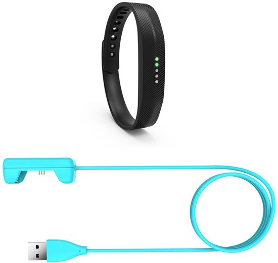USB-lader adapter voor Fitbit Flex 2 - Blauw