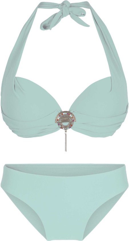 LingaDore 4115 SUMMER Halternek bikini set - Maat 38B- Groen
