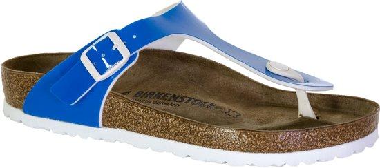 Birkenstock Gizeh  Slippers - Maat 39 - Vrouwen - blauw/wit