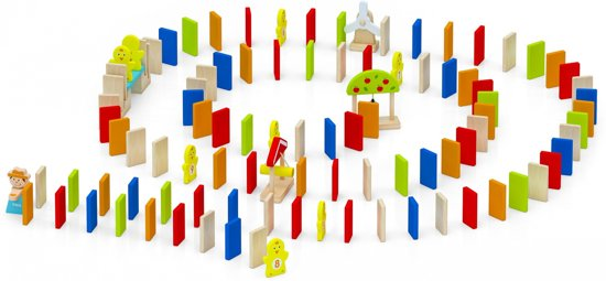 Viga Toys Dominostenen Run Multicolor 116-delig
