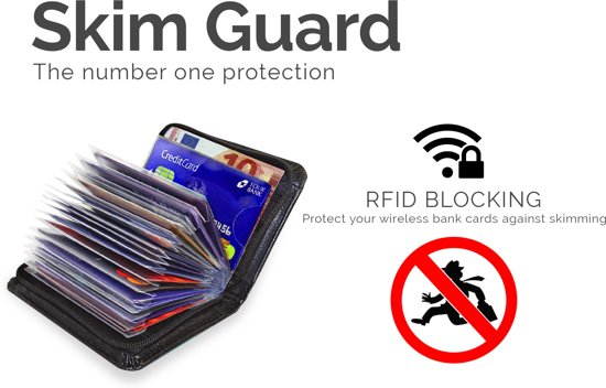 348d040c5cc bol.com | Anti Skim Pashouder| RFID Blocking | 36 pasjes | Portemonee