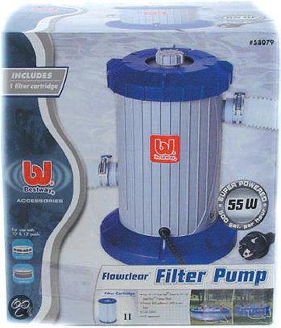Bestway filterpomp voor zwembad for Filterpomp zwembad