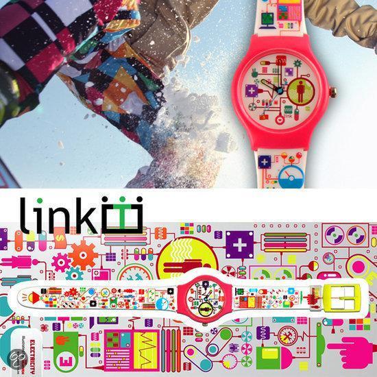 Linkgraphix horloge Electricity - diameter 34 mm - Kunststof