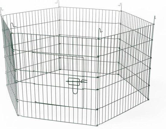 Duvo+ Knaagdieren ren 6 panelen - Aluminium - 60 x 60cm