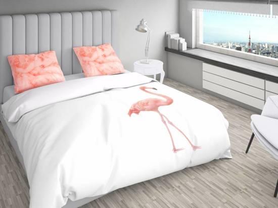 nightlife dekbedovertek flamingo lits jumeaux. Black Bedroom Furniture Sets. Home Design Ideas