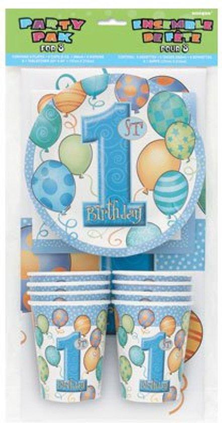 Bol Com Feest Pakket Eerste Verjaardag Jongen Serie Blauwe