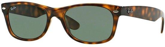 c3e505c253689e Ray-Ban RB2132 902 - New Wayfarer (Classic) - zonnebril - Tortoise   Groen  Klassiek G-15 - 52mm