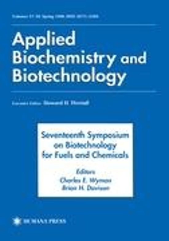 Seventeenth Symposium on Biotechnology for Fuels and Chemicals