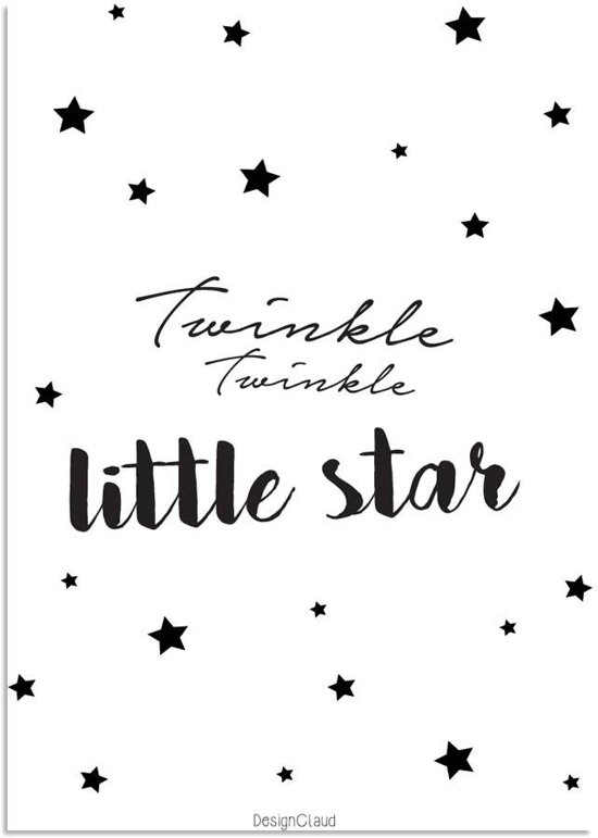 bolcom kinderkamer poster twinkle twinkle little star