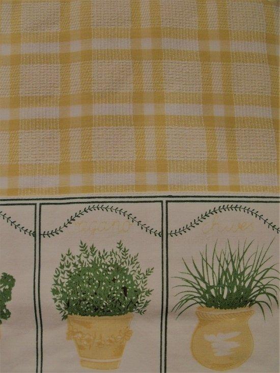 Tafelkleed Rechthoekig 130x180 cm Kruiden Ruit Geel