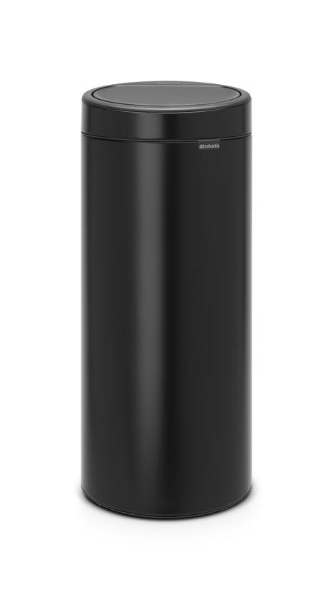 Brabantia Touch Bin 30 Liter Wit.Brabantia Touch Bin New Prullenbak 30 L Matt Black