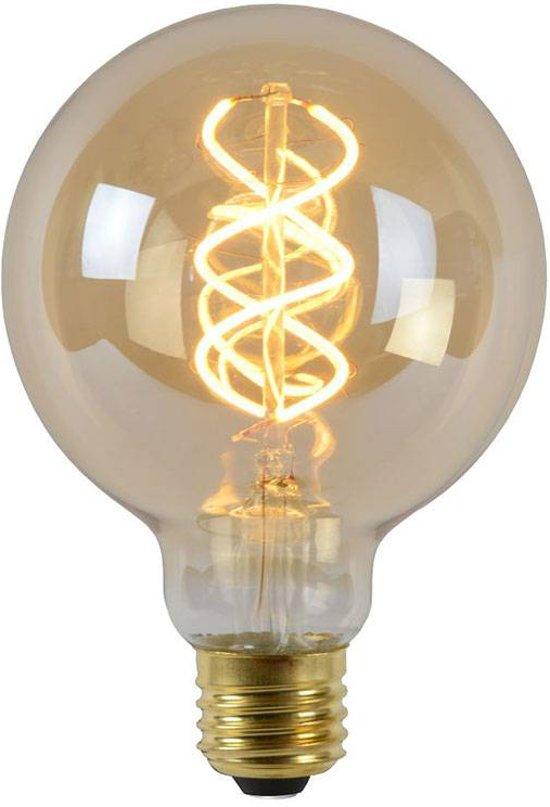 Lucide LED Bulb - Filament lamp - Ø 9,5 cm - LED Dimb. - E27 - 1x5W 2200K - Amber