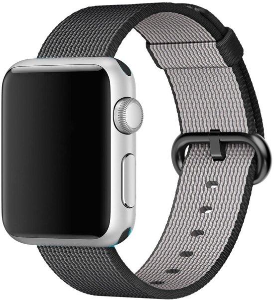 Nylon bandje voor de Apple Watch 42mm Zwart
