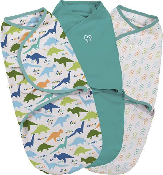 SwaddleMe Original Swaddle 3-pack Origami Dino small