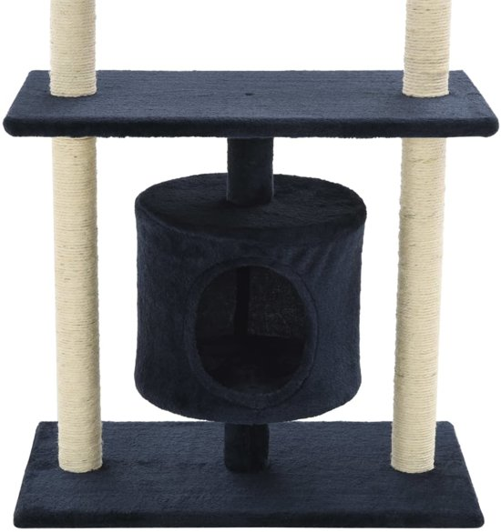vidaXL Kattenkrabpaal met sisal krabpalen 95 cm donkerblauw