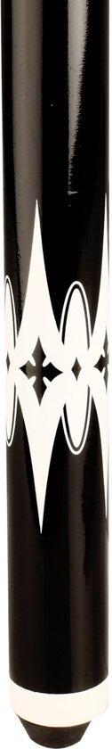 Abbey Game Biljartkeu 2-delig met Print - Off white/Zwart - 140