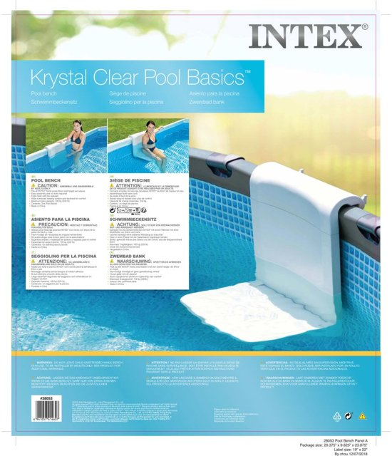Intex Zwembadbank PVC 28053