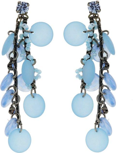 Oorbellen hangers blauw