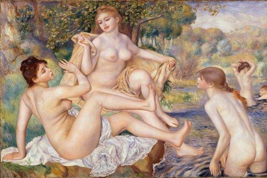 Pierre-Auguste Renoir : The Large Bathers (1884-87) Canvas Print