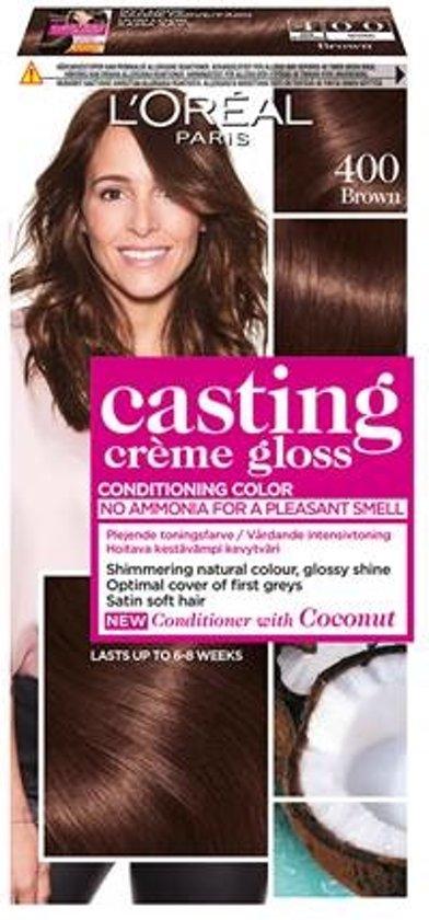 bol   l'oréal paris casting crème gloss haarverf - 400 middenbruin