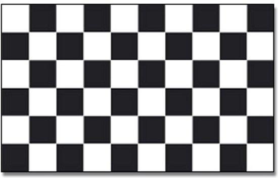 Geruite Finish vlag 90 x 150 cm