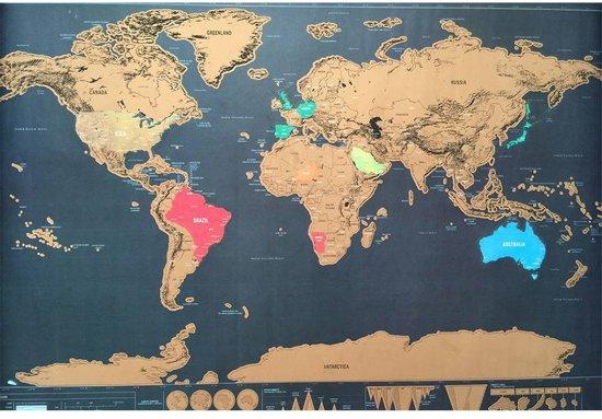 Wereld Kraskaart - Scratch Map - Kras Je Reislanden