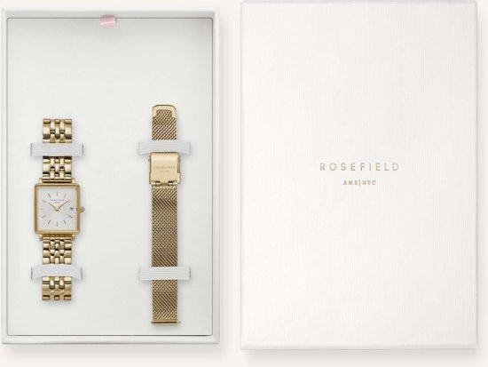 Rosefield The Boxy Xs Gift Set Dames Horloge - Goud - BMWMG-X240