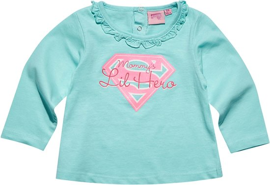 Superbaby-T-shirt-met-lange-mouw-blauw-maat-18-mnd