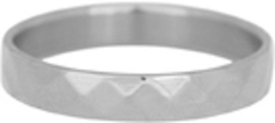 iXXXI Vulring facet staal zilverkleurig 4mm - maat 17