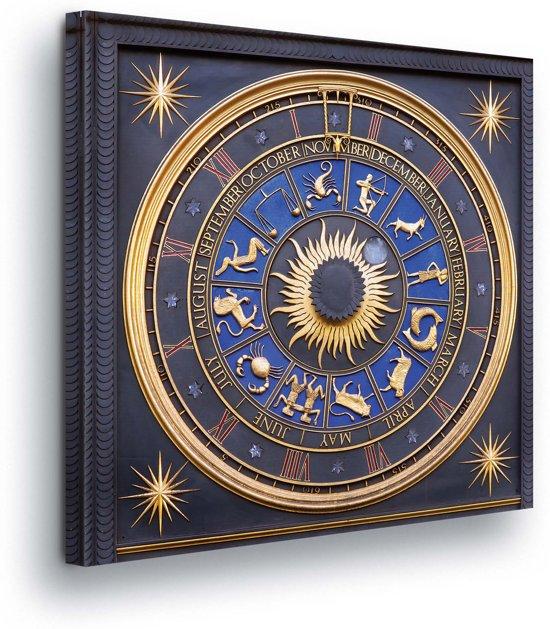 Astronomical Clock Bracken House Canvas Print 80cm x 80cm