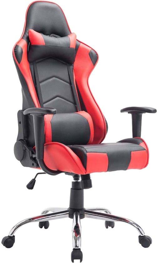 Clp Racing bureaustoel MIRACLE Sport seat Racing, Gaming chair - zware belasting tot 150 kg, ergonomisch - zwart/rood,