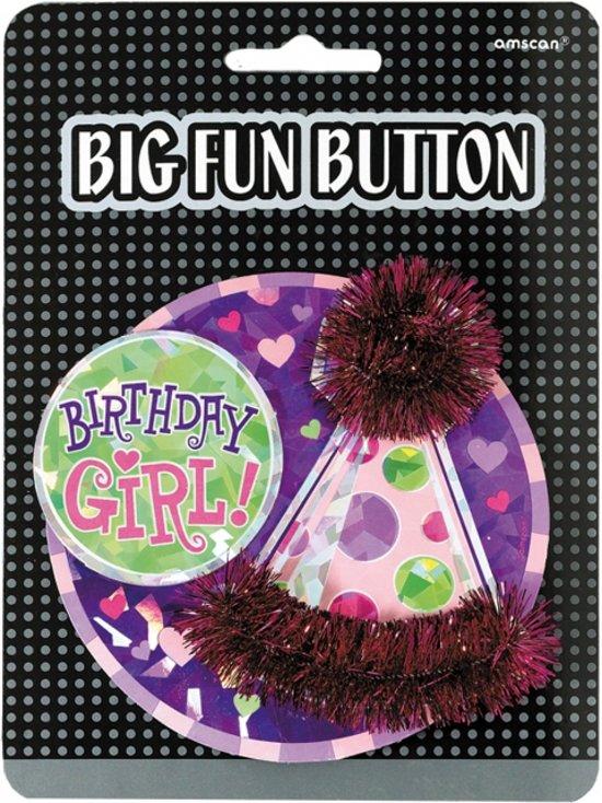 Bol Com Mega Verjaardag Button Birthday Girl Merkloos Speelgoed
