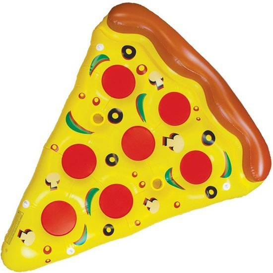 Gigantische XXXL Opblaasbare Pizza punt -180cm- wit | Mega  Pizza punt Opblaasbaar | Zwembad Speelgoed | opblaas dieren