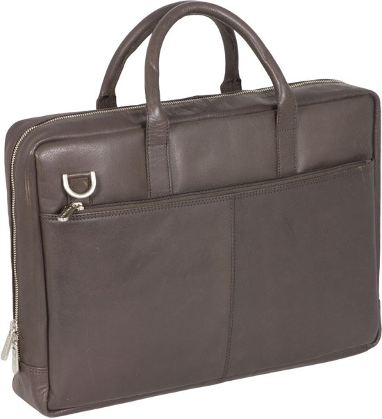 404096ebdfe bol.com | Plevier Business/ Laptoptas Greased 2-Vaks 17.3 Dark Brown 272