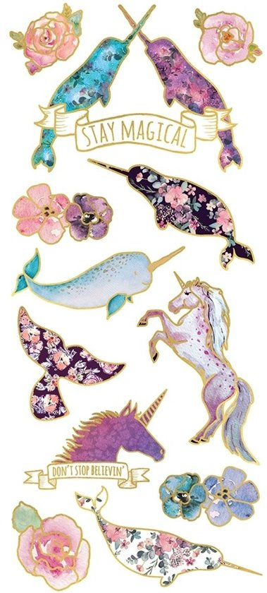 Paper House Stickers Narwhal