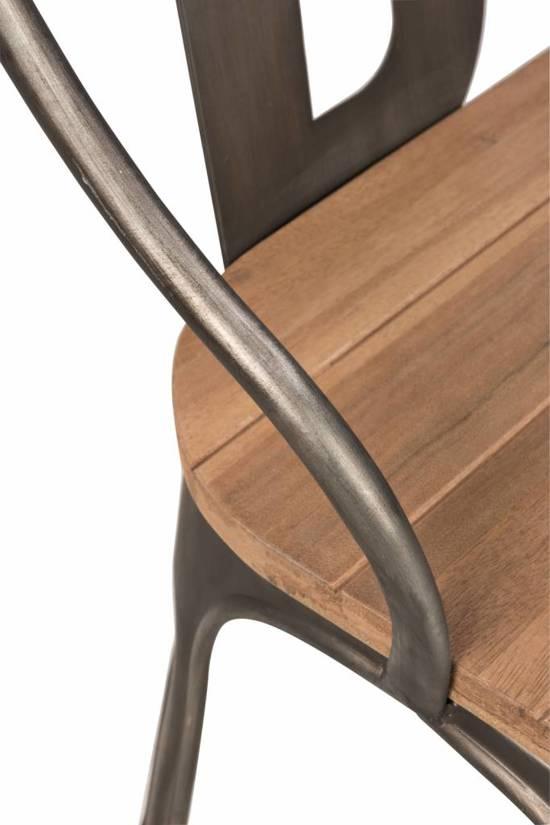 Duverger BAR - Zitbank - smeedijzer frame antraciet - naturel houten