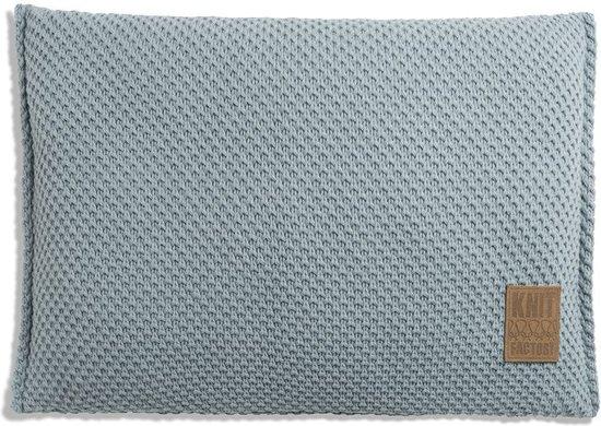 Knit Factory Lynn Kussen - Stone Green 60 x 40 cm