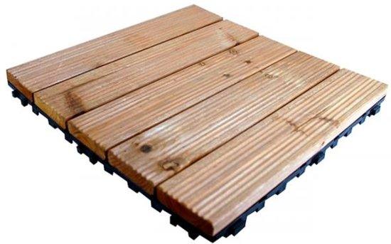 Houten Vloer Tegels : Bol houten vloertegels koppelbaar set van stuks