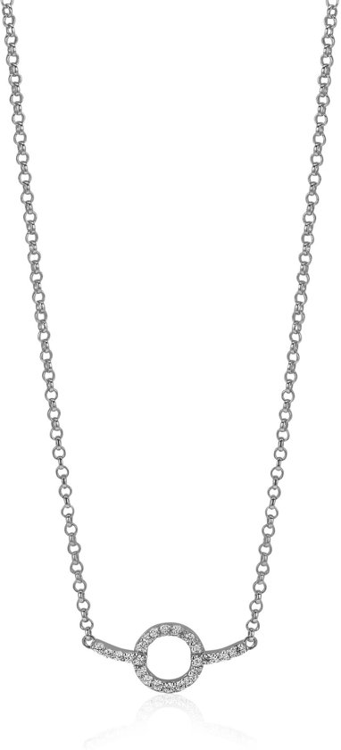 Zinzi Jewels Collier zilver 45 cm rosekleur