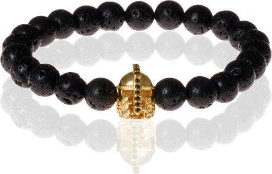 Memphis kralen armband Lavasteen Gladiator Goudkleurig