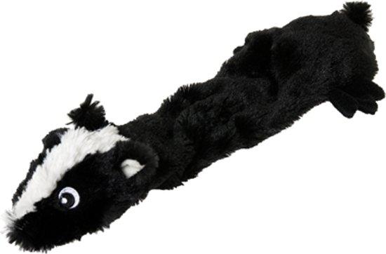 Karlie Flamingo Shaky Skunk Hondenspeelgoed - Pluche - 50cm - Zwart