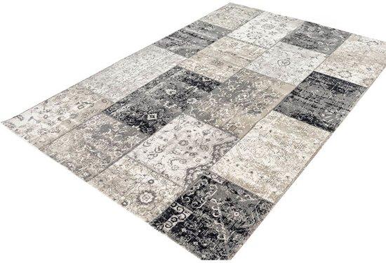 Vloerkleed | Retro | 160x230 cm | Grijs & Zwart